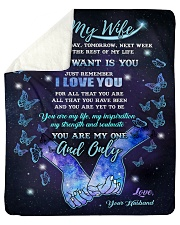 "Blanket - To my wife- You're my one and only - HTV Sherpa Fleece Blanket - 50"" x 60"" thumbnail"