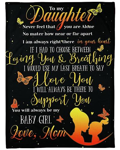 Blanket--Butterflies-To my Daughter - HTV