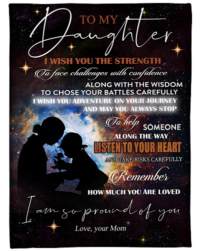 Blanket - To My Daughter - Mom - DTA