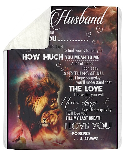 Blanket-Lion-To my Husband-DTS
