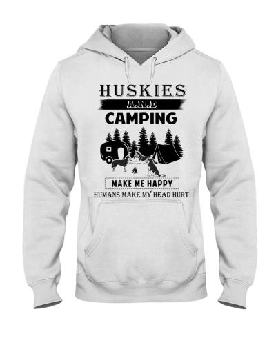 Huskies camping