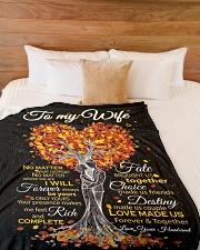 "Blanket - To my Wife - PCC Large Fleece Blanket - 60"" x 80"" aos-coral-fleece-blanket-60x80-lifestyle-front-02"