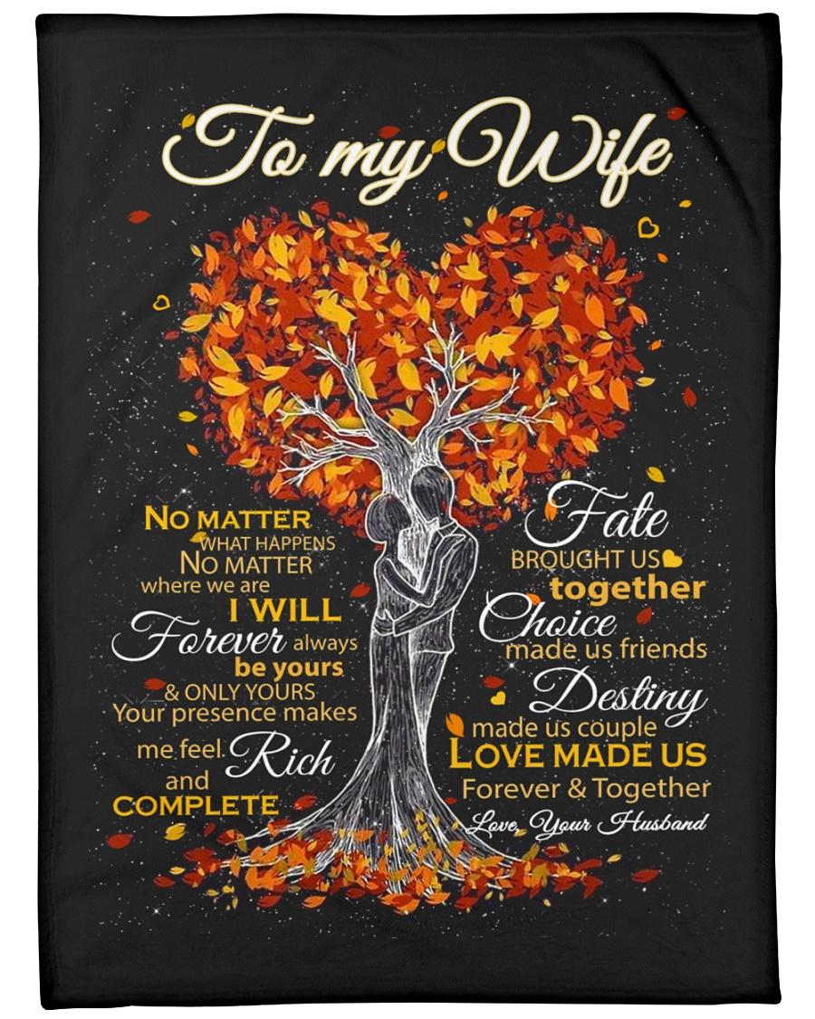 "Blanket - To my Wife - PCC Large Fleece Blanket - 60"" x 80"""