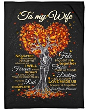 """Blanket - To my Wife - PCC Large Fleece Blanket - 60"""" x 80"""" front"""