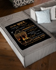 "Blanket - To my Wife Small Fleece Blanket - 30"" x 40"" aos-coral-fleece-blanket-30x40-lifestyle-front-03"