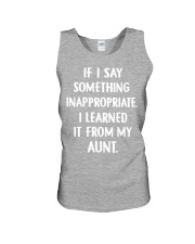 IF I SOMETHING INAPPROPRIATE Unisex Tank front