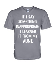 IF I SOMETHING INAPPROPRIATE V-Neck T-Shirt front