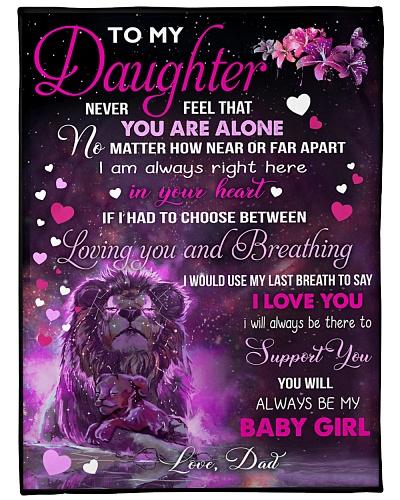 BLANKET-LION-TO MY DAUGHTER-LOVE DAD-HTV