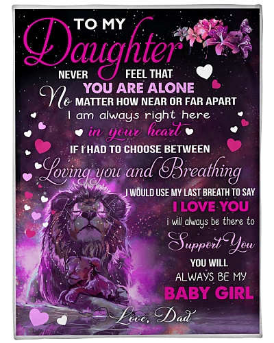 BLANKET-LION-TO MY DAUGHTER-LOVE DAD-HTV