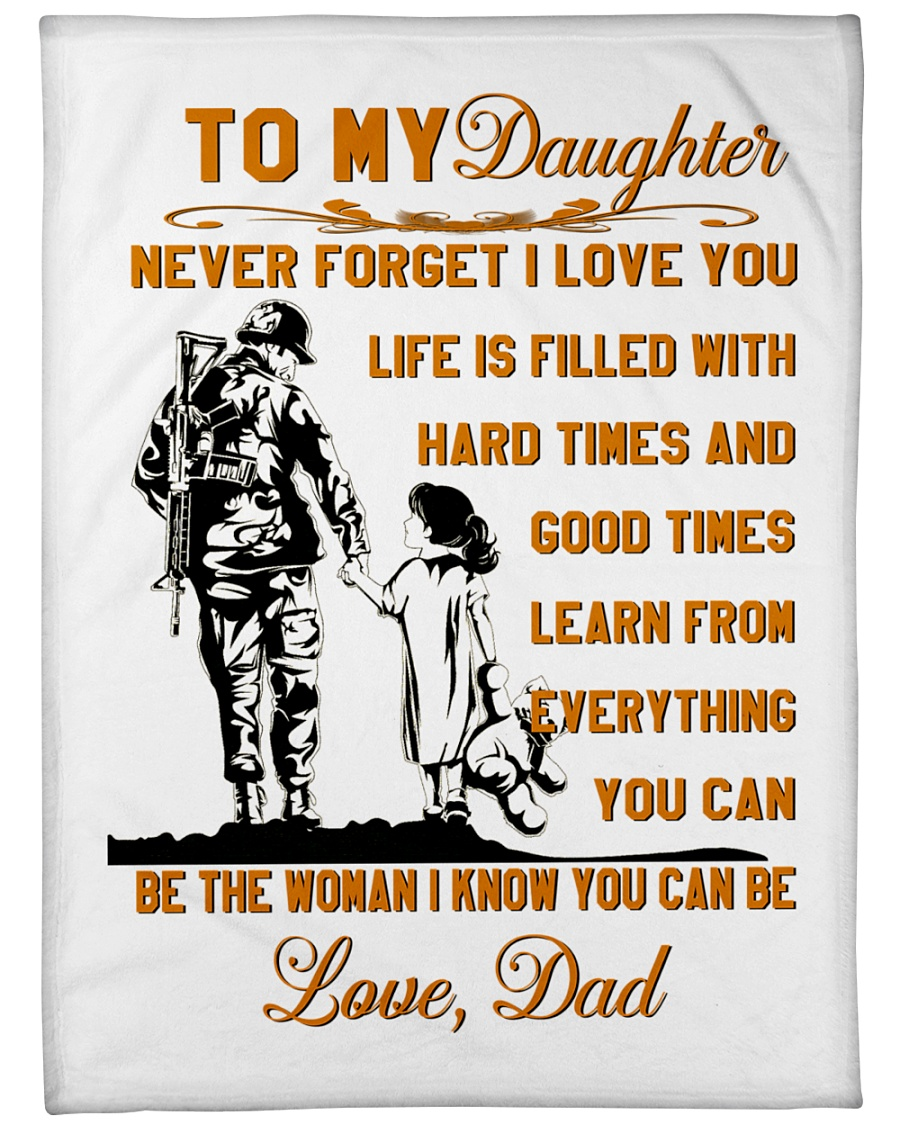 "BLANKET- TO MY DAUGHTER- VETERAN Large Fleece Blanket - 60"" x 80"""