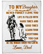 "BLANKET- TO MY DAUGHTER- VETERAN Large Fleece Blanket - 60"" x 80"" front"