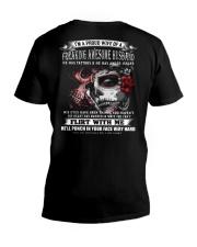 MY FREAKING AWESOME HUSBAND V-Neck T-Shirt thumbnail