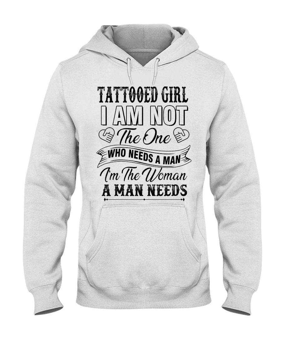 Tattooed girl version Hooded Sweatshirt
