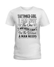 Tattooed girl version Ladies T-Shirt thumbnail