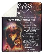 "Blanket-Lion- To my Wife - Love Husband-HTV Sherpa Fleece Blanket - 50"" x 60"" thumbnail"