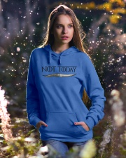 NOT TODAY Hooded Sweatshirt lifestyle-holiday-hoodie-front-5