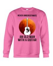 Old Man With Guitar Crewneck Sweatshirt thumbnail