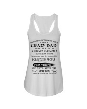 LIMITED EDITION - CRAZY DAD 6 - L Ladies Flowy Tank thumbnail