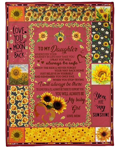 Blanket-To my Daughter-You are my sunshine-HTV