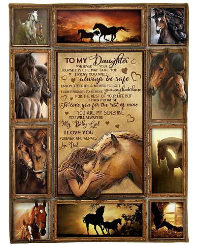 BLANKET - DAD TO DAUGHTER - HORSE - HTL