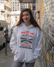 JANUARY GIRL Hooded Sweatshirt lifestyle-unisex-hoodie-front-1