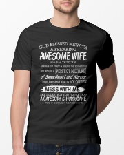 AWESOME WIFE Classic T-Shirt lifestyle-mens-crewneck-front-13