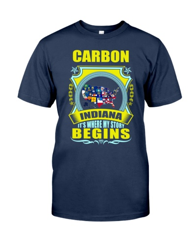 Carbon-IN USA map proud Tshirt