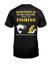 WARNING - FISHING Classic T-Shirt back