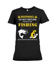 WARNING - FISHING Premium Fit Ladies Tee thumbnail