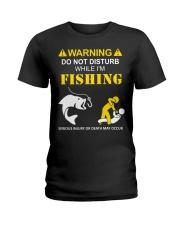 WARNING - FISHING Ladies T-Shirt thumbnail