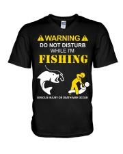 WARNING - FISHING V-Neck T-Shirt thumbnail