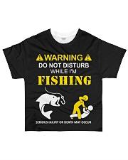 WARNING - FISHING All-over T-Shirt thumbnail