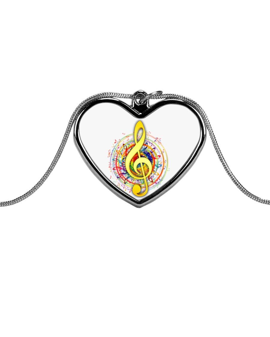 Jewelry for music lovers Metallic Heart Necklace