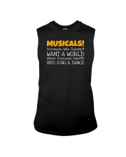 Musicals Want A World Into Song And Dance Theatre Sleeveless Tee thumbnail