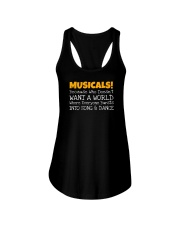 Musicals Want A World Into Song And Dance Theatre Ladies Flowy Tank thumbnail