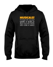 Musicals Want A World Into Song And Dance Theatre Hooded Sweatshirt thumbnail