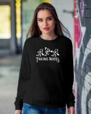 Taking Notes Funny Music Director Teacher Musician Crewneck Sweatshirt lifestyle-unisex-sweatshirt-front-9
