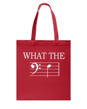 WHAT THE F BASS CLEF VERSION TSHIRT Tote Bag thumbnail
