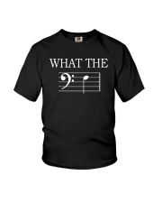WHAT THE F BASS CLEF VERSION TSHIRT Youth T-Shirt thumbnail