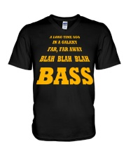 FUNNY BASS GUITAR TSHIRT FOR BASSIST V-Neck T-Shirt thumbnail