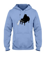 CUTE  DESIGN FOR PIANO PLAYERS Hooded Sweatshirt thumbnail