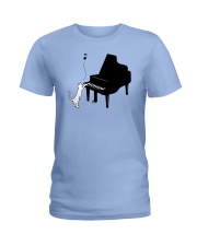 CUTE  DESIGN FOR PIANO PLAYERS Ladies T-Shirt tile