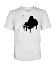 CUTE  DESIGN FOR PIANO PLAYERS V-Neck T-Shirt thumbnail