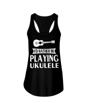 FUNNY DESIGN FOR UKULELE LOVERS Ladies Flowy Tank thumbnail