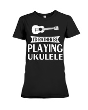 FUNNY DESIGN FOR UKULELE LOVERS Premium Fit Ladies Tee thumbnail