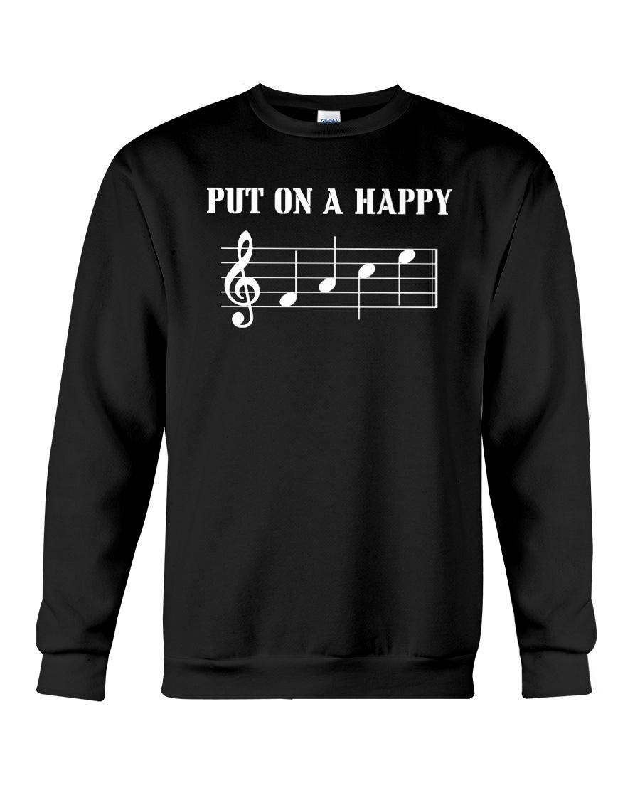 Put On A Happy FACE Funny Music Musician Crewneck Sweatshirt