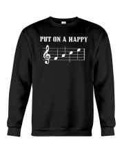 Put On A Happy FACE Funny Music Musician Crewneck Sweatshirt thumbnail
