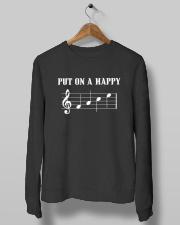 Put On A Happy FACE Funny Music Musician Crewneck Sweatshirt lifestyle-unisex-sweatshirt-front-10