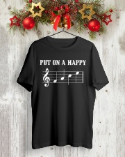 Put On A Happy FACE Funny Music Musician Classic T-Shirt lifestyle-holiday-crewneck-front-2