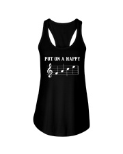 Put On A Happy FACE Funny Music Musician Ladies Flowy Tank thumbnail